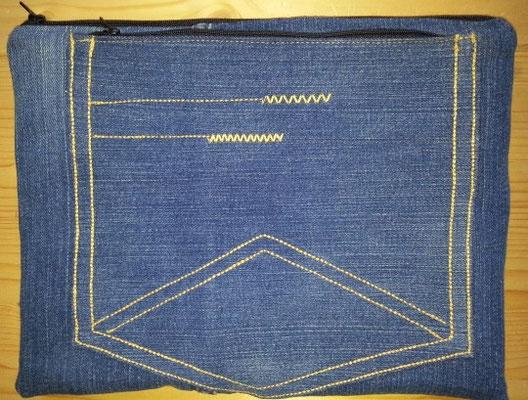 Tablettasche-Case-Bag-Hülle, Jeans-jeansblau-8 Zoll, Unikat, Geschenkidee