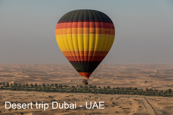 Desert trip with hotair balloon - Dubai - UAE - October 2018