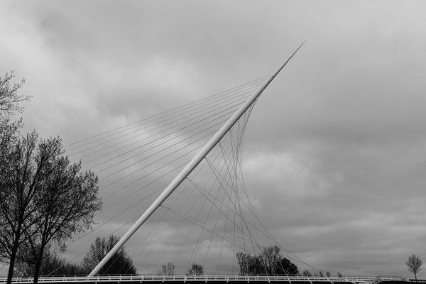 Calatrava brug De Harp - Nieuw Vennep - april
