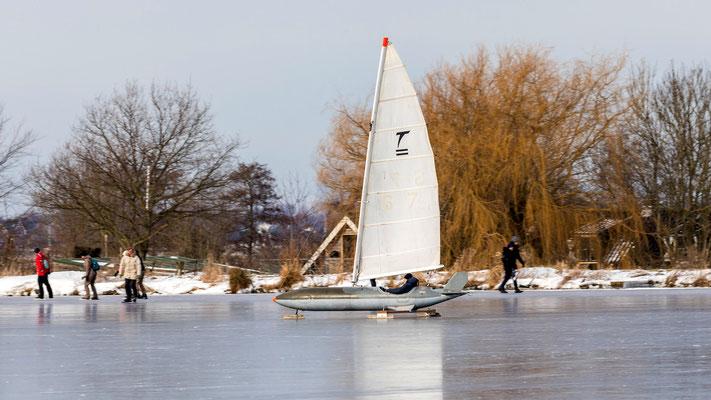 Wijde Aa - ice sailing - februari