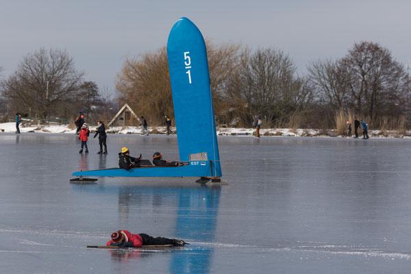 Wijde Aa - icesailing - icehockey - februari