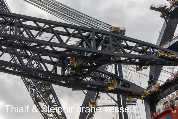 Thiaf and Sleipnir crane vessels September 2021