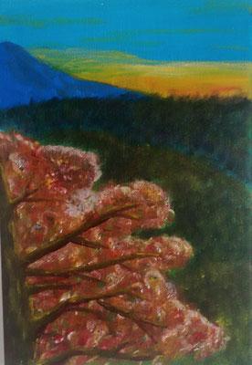 Herbstlandschaft, Acryl auf Leinwand, 30cm * 20cm