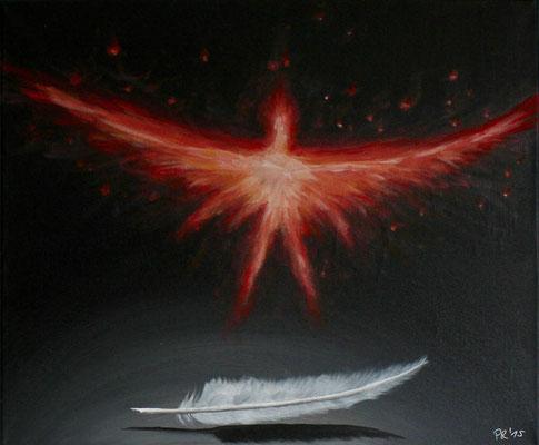 Leidenschaft, Acryl auf Leinwand, 60 cm * 50cm