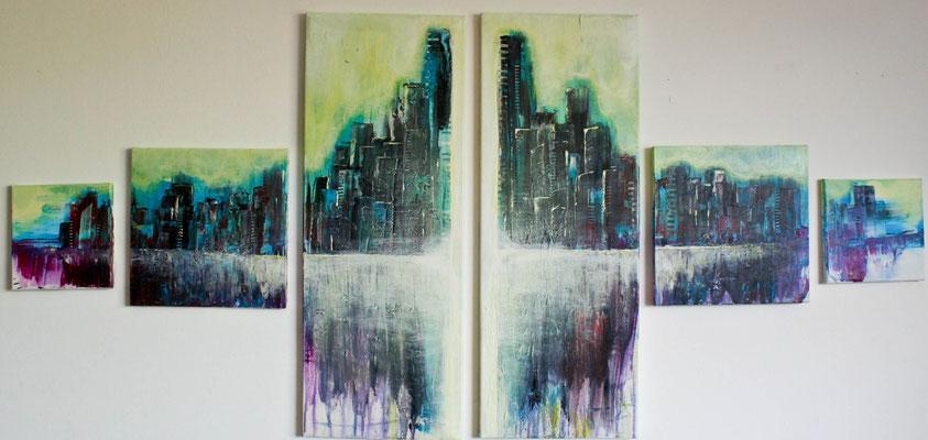 Hoffnungsvolles Chaos, Acryl auf Leinwand, 170 cm * 80cm