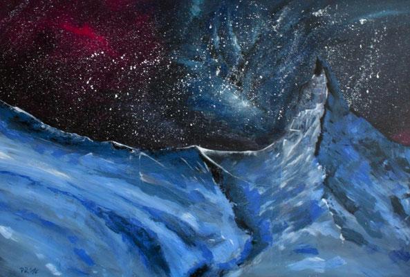 Eisige Nacht, Acryl auf Leinwand, 100cm * 150cm