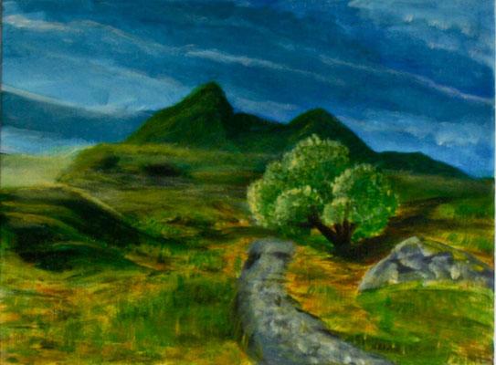 Traum von Schottland, Acryl auf Leinwand, 40cm * 30cm