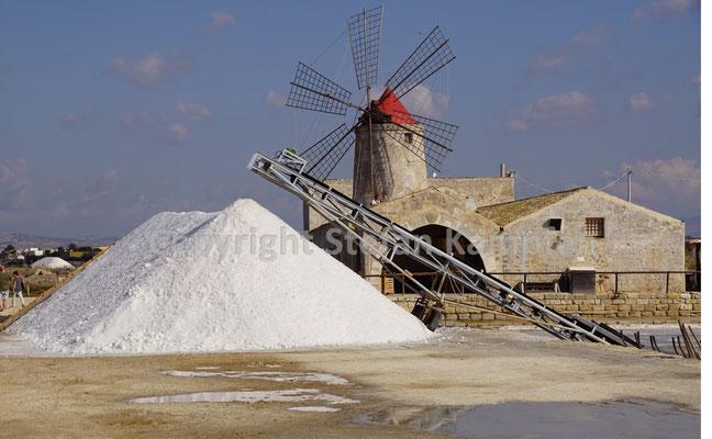 Salinenfelder in Saline die Trapani