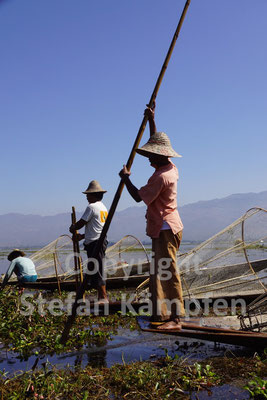 Traditionsbewusst: Der Fischfang mit dem Bambuskorb