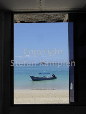 Ein Blick durchs Fenster auf der Isla Coiba