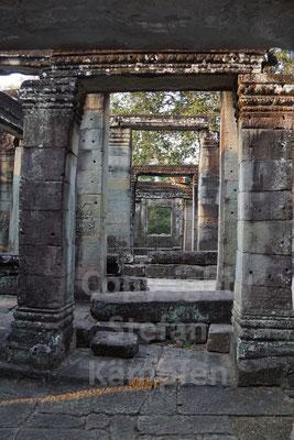Dreidimensionale Ansichten in den Khmer-Tempeln von Siem Reap