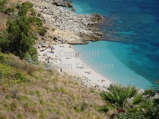 Einer von vielen herrlichen Buchten in der Reserva Naturale dello Zingaro