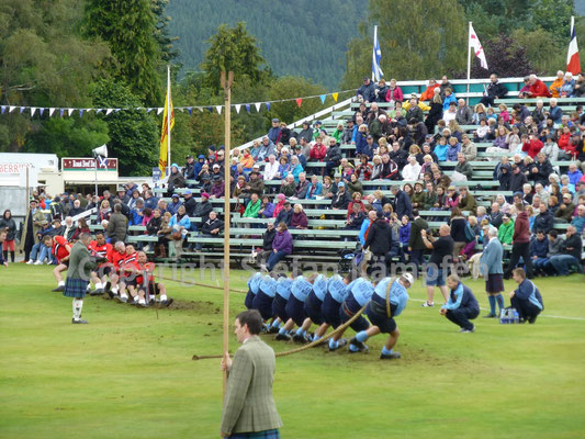 An den Scottish Highland Games in Braemar