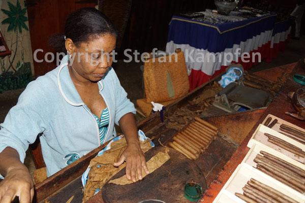 Die Zigarren in der Dominikanischen Republik werden von Hand gedreht
