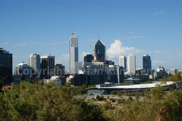 Die Skyline von Perth