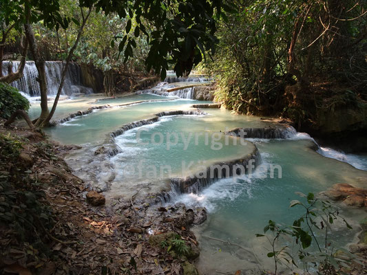Ein türkisfarbener Traum: Die Kuang Si Falls in Luang Prabang