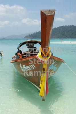 Ziert viele Reise-Magazine: Das Longtailboot