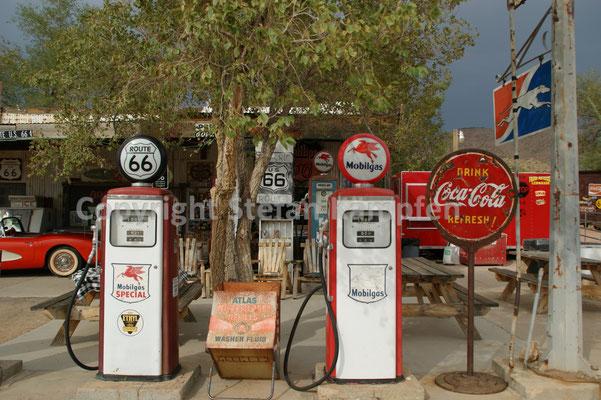 Tankstelle zu Zeiten, als die Route 66 noch eine Hauptverkehrsachse gewesen ist