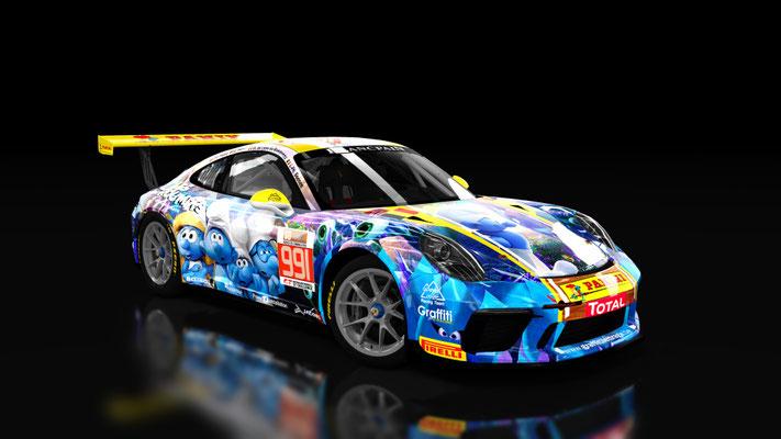 Porsche 911 Super Cup 24 Hours of Spa 2017 #991 De Smurfen