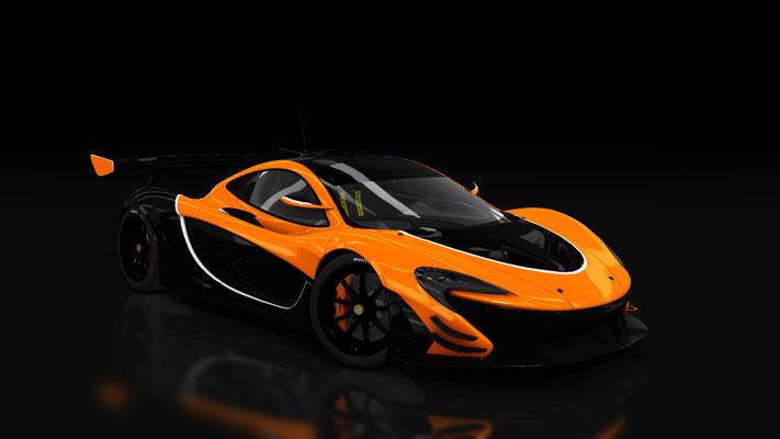 Mclaren P1 GTR Orange & Black