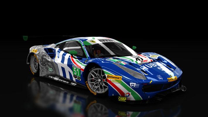 WeatherTech SportsCar Championship Ferrari 488 GTD Spirit of Race #51 IMSA