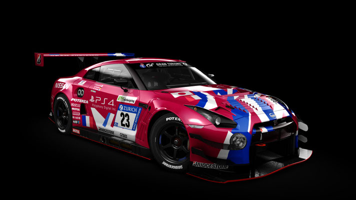 (Replica) #23 Nissan GT-R GT3 Concept LM