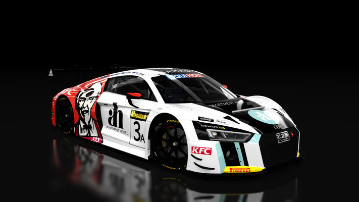 Audi r8 lms 2016 Endurance Bathurst 12 hour 2017 Team ASR #3A