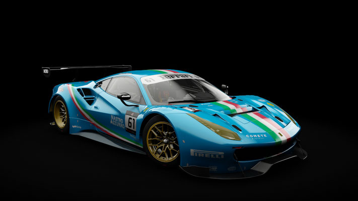 Ferrari 488 GT3 - Team Italia livery