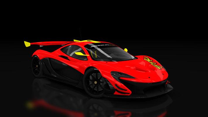 McLaren P1 Homage series - Red&Yellow GTR