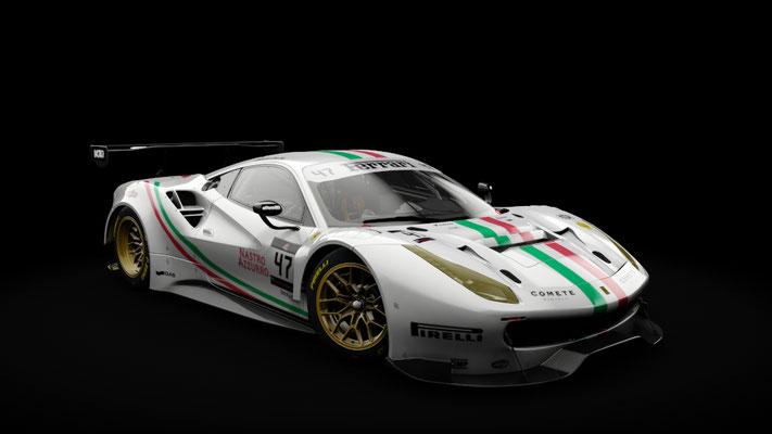 Ferrari 488 GT3 - Team Italia #47 livery (white)