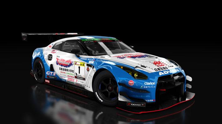 Nissan GT-R GT3 - Super Taikyu 2017: KONDO RACING / ThreeBond Nissan jidosha daigakko GT-R #1