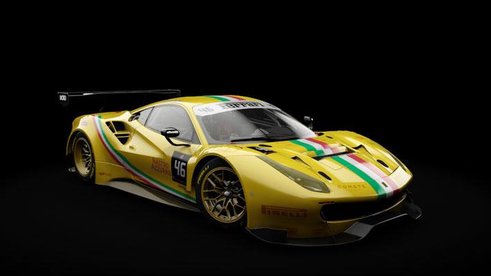 Ferrari 488 GT3 - Team Italia #46 livery (gold)
