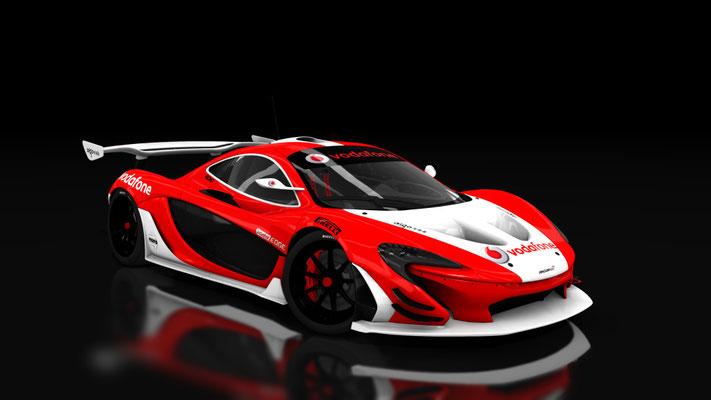 Mclaren P1 GTR Vodafone Team