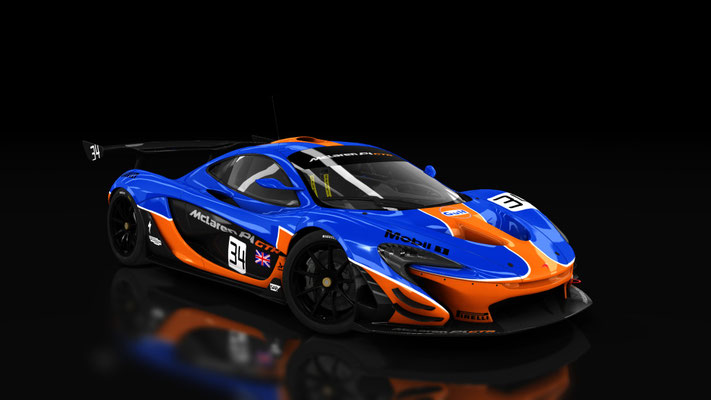 McLaren P1 GTR Dark Gulf
