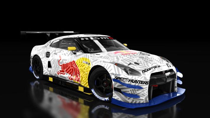 Nissan GTR GT3 Camo RedBull livery