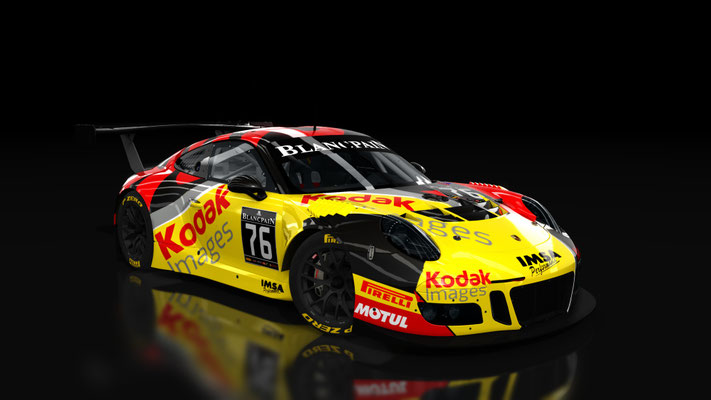 IMSA Porsche 911 GT3 R Kodak Images #76 Skin
