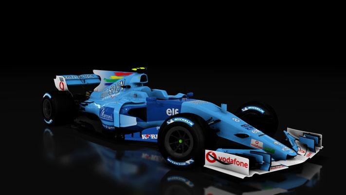 Formula Hybrid: Benetton B201