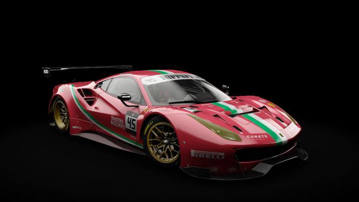 Ferrari 488 GT3 - Team Italia #45 livery (red)