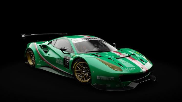 Ferrari 488 GT3 - Team Italia #18 livery (green)