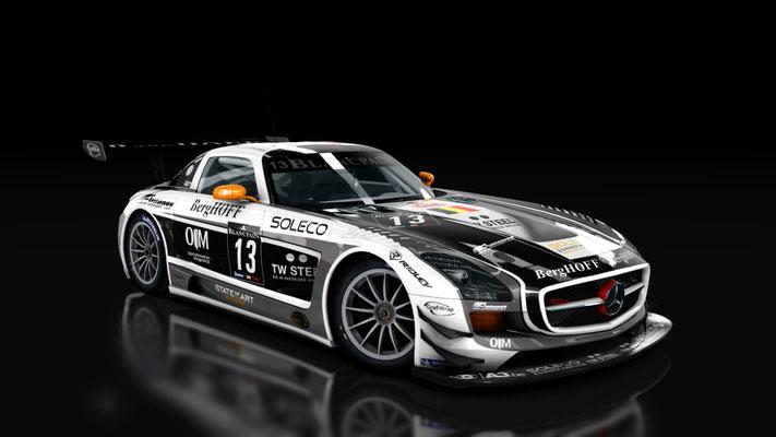 SLS GT3 KRK racing BES 2012
