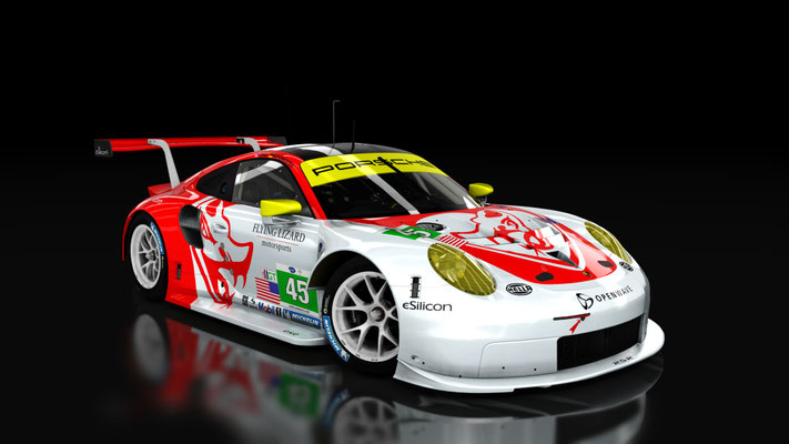 Porsche 911 RSR 2017 - Flying Lizard by SecondSkins.nl