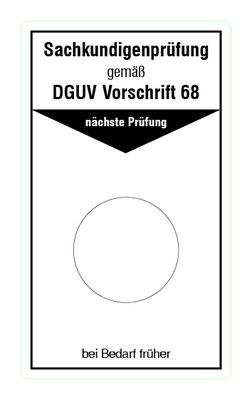 """Format: B 50, H 85 mm / Art.-Nr. 20-02-015 / """"Prüfung Flurförderzeuge"""""""