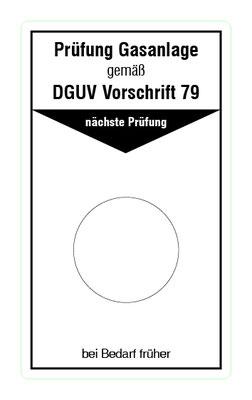 """Format: B 50, H 85 mm / Art.-Nr. 20-02-300 / """"Prüfung Gasanlage (Flüssiggas)"""""""