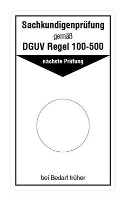 """Format: B 50, H 85 mm / Art.-Nr. 20-02-011 / """"Betreiben von Arbeitsmitteln"""""""