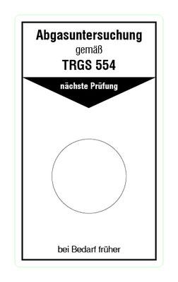 """Format: B 50, H 85 mm / Art.-Nr. 20-02-025 / """"Abgase Dieselmotoren"""""""