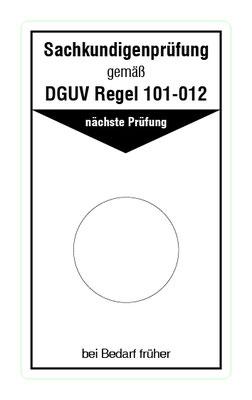 """Format: B 50, H 85 mm / Art.-Nr. 20-02-013 / """"Prüfung Betonpumpen u. Verteilermasten"""""""