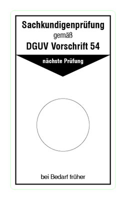 "Format: B 50, H 85 mm / Art.-Nr. 20-02-035 / ""Prüfung Winden Hub- u. Zuggeräte"""