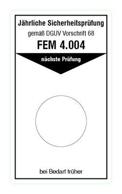 """Format: B 50, H 85 mm / Art.-Nr. 20-02-115 / """"Prüfung Flurförderzeuge"""""""