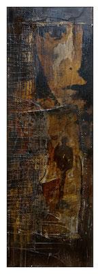 *gedanken kommen und gehen* 03/03; Leinwand 30 x 90 cm