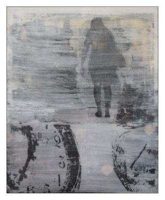 """o.T., aus der Serie """"Alltag""""; Pressspanplatte,  43 x 55 cm"""